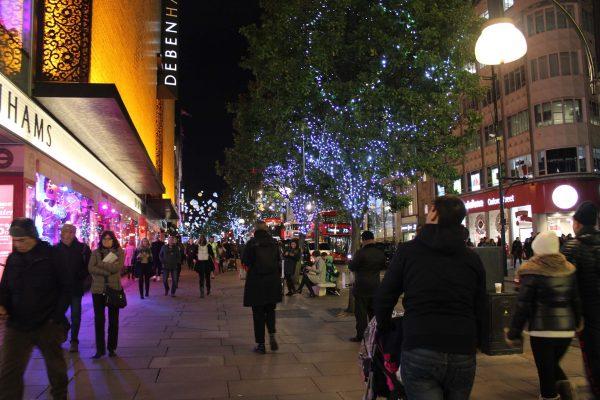 Oxford Street iluminada
