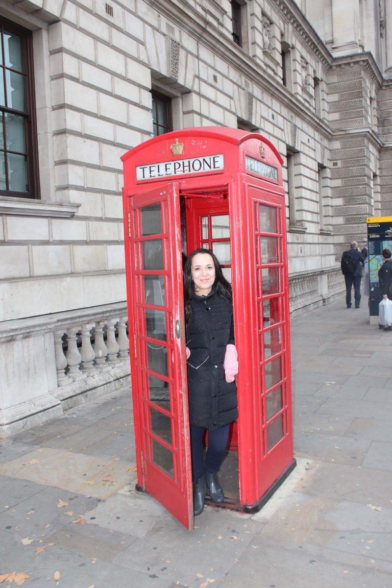 Cabine telefónica em Londres